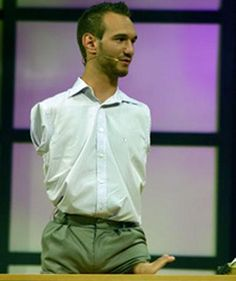"If you've never heard him speak- you need to. "" A Life Without Limbs "" Nick Vujicic."