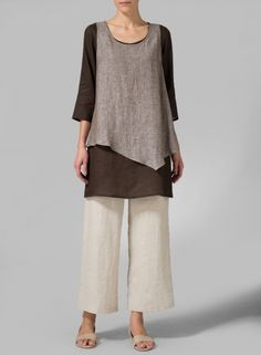 MISSY Clothing - Linen Double-Layer Wrap Top