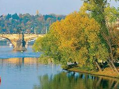 Shooters island in Prague, also called Upper island or Small Venice of Prague