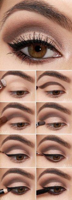 Cómo pintarse los ojos paso a paso con un tutorial de Lulu's. #makeup
