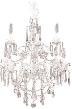Gorgeous beaded chandelier!