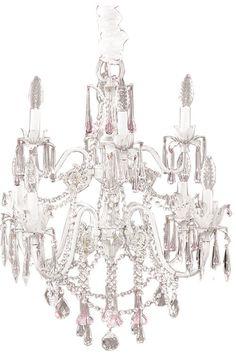 Gorgeous beaded chandelier!