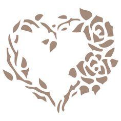 corazón rosas