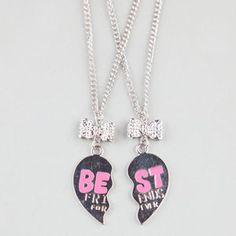 2 Piece Best Friends Forever Necklaces #bestfriends #neckleaces #friends