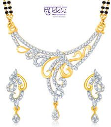 Buy Sukkhi Bewitching Gold and Rhodium Plated Cubic Zirconia Stone Studded Mangalsutra Set(14003MSCZK1900) mangalsutra online