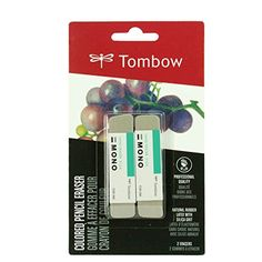 Tombow Colored Pencil Eraser, Silica Grit 9 cm X 6.6 cm X 1.7 cm, 2-Pack Tombow wonder if our artist girls would like these