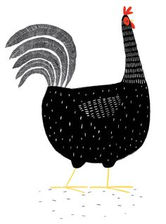 Black Hen - lots of detail work, but I think I could pull this off. Copying for my own kitchen of course.