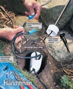 Diy outdoor lighting tips for beginners easy landscaping and installing low voltage outdoor lighting is a big impact diy project and since aloadofball Choice Image