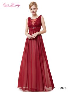 Sexy Lace Red V Neck Maxi Prom Party Evening Dress
