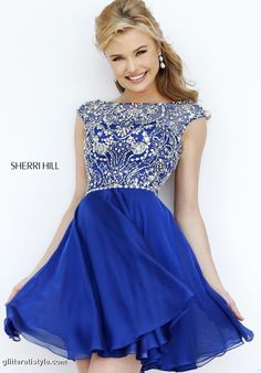 Sherri Hill - 32320 Glitterati Style has a great selection of short dresses! Come in to our Danvers location at 30 Maple St!