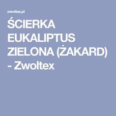 ŚCIERKA EUKALIPTUS ZIELONA (ŻAKARD) - Zwoltex