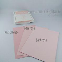 www.rosa-pink-glitzer.de: Stampin up InColors 2017-2019 im Vergleich - Puderrosa