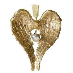 ❥ angel wings HEART... make into a necklace and hang a dog paw in middle instead of bell in memory of Cinnamon