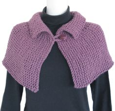 Keep warm and comfortable with our Shoulder Wrap - a caplet in bulky yarn. Size: Adult Yarn: 2 skeins of Morehouse Merino Bulky Needles: circular or longer OR single-point Crochet Hook: 5 mm or mm Knitted Cape Pattern, Knitted Capelet, Poncho Knitting Patterns, Crochet Cape, Knitting Kits, Shawl Patterns, Easy Knitting, Knit Or Crochet, Crochet Poncho