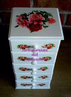 caja alhajero y porta-aros vintage -shabby chic-oferta!!!
