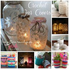 Crochet Jar Covers ~ free patterns