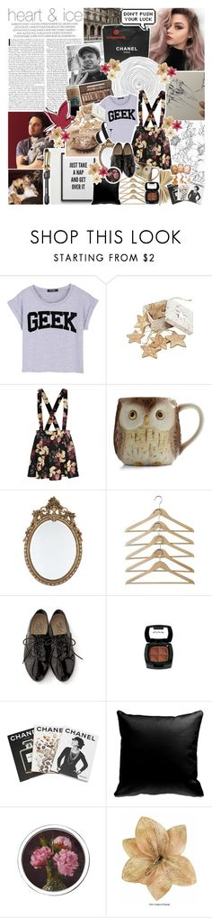"""♔; ""waiting for me in the downpour outside"""" by the-forgotten-wolf ❤ liked on Polyvore featuring Chanel, Urban Decay, Rachel, TEN, River Island, Assouline Publishing, Aerie, Hot Tools, Clips and collaboration"