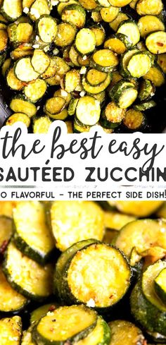 Make this Easy Sauted Zucchini when you need a simple and healthy side dish the whole family will enjoy Its quick to whip up and so flavorful  and you can add parmesan cheese to make it even more delicious! I love having lots of options for easy vegetable side dishes up my sleeve and this is the perfect recipe for the abundance of summer zucchini  #recipe #easyrecipes #zucchini #zucchinirecipes #summerfood #summerrecipes #sidedish #kidfriendly Zucchini Side Dishes, Easy Vegetable Side Dishes, Healthy Side Dishes, Vegetable Sides, Veggie Dishes, Side Dish Recipes, Food Dishes, Simple Vegetable Recipes, Vegetables