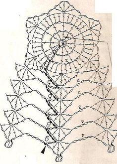 U Kathryn : Szydełkowe dzwonki/Crochet bells Crochet Bunny Pattern, Crochet Motif Patterns, Crochet Diagram, Tatting Patterns, Crochet Angels, Crochet Stars, Crochet Snowflakes, Thread Crochet, Victorian Christmas Ornaments