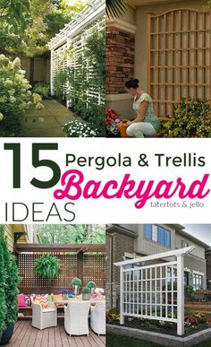 Backyard Pergolas and Trellises