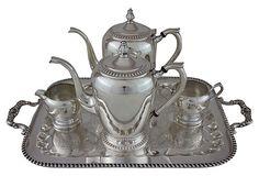 American Tea Set, C. 1880, 5 Pcs on OneKingsLane.com