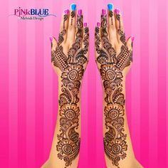 ....Arabic Mehandi Design, Wonderful art by Rashmi Rajput!! You will be surprise after seeing her design   #Mehandi #Design #Art #Wedding #Love #Arabic #PINKBLUE Book Your Order: +91-90993-59014