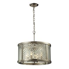 ELK Lighting Chandler Collection 4 light pendant in Polished Nickel 31462/4