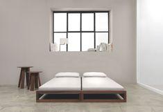 Convertible wooden bed GUEST by ZEITRAUM design Hertel