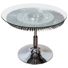 Aviation Jet Engine Turbine Fan Coffee Table | From a unique collection of antique and modern aviation objects at http://www.1stdibs.com/furniture/more-furniture-collectibles/aviation-abjects/
