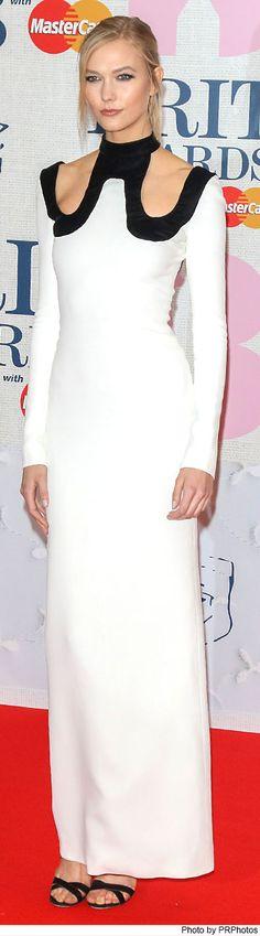 Karlie Kloss Wearing Tom Ford Dress and Jimmy Choo Lottie sandals - 2015 Brit Awards - 02/25/2015