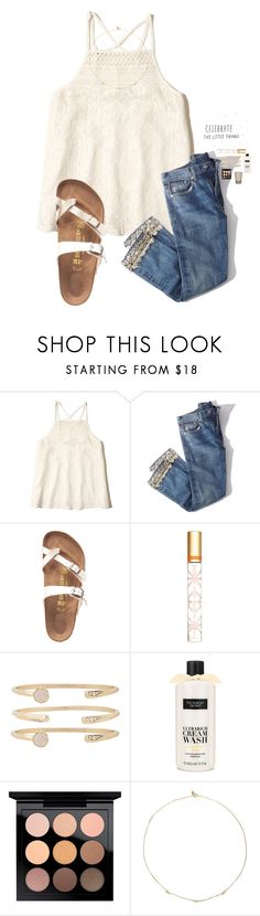 """Find me where the wild things are🤘🏼"" by kolbee24 ❤ liked on Polyvore featuring beauty, Hollister Co., Brock Collection, Birkenstock, Tory Burch, Kendra Scott, Victoria's Secret, MAC Cosmetics and Loren Stewart"