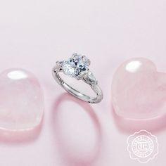 Be mine. Featuring a Tacori sweetheart from the RoyalT Collection, #tacori #love #diamonds #diamond