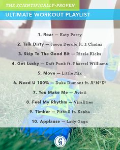 A team of sports psychologists has teamed up with Spotify to devise the absolute best #playlist to help power your #workout. Did any of your favorites make the list?