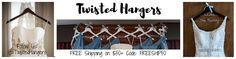 Personalized Wedding Hangers and Bridal Party by TwistedHangers