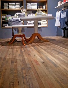 Low resolution photo of our Antique Barnboard Oak flooring in a new Anthopologie store in Washington, DC