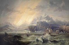 John Wilson Carmichael - HMS Erebus and Terror in the Antarctic 1847