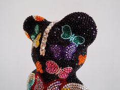French Bruno by J. Edelweiss, Bear, French, Hats, Bulldog Breeds, Rhinestones, Kunst, French People, Hat