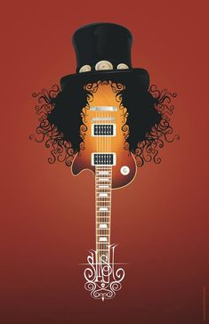 Slash Guitar Print