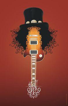 Slash Guitar Print