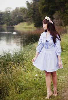 blue outfit by Carrie WishWishWish, via Flickr