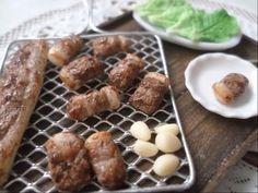 미니어쳐 삼겹살 만들기/miniature pork belly / ミニチュア 豚の三枚肉 - YouTube