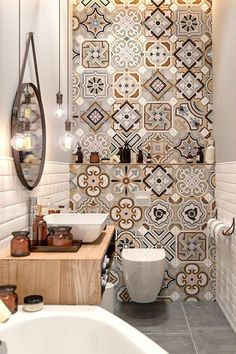 Small Master Bathroom Decor on a Budget www. Small Master Bathroom Decor on a Budget www.onechitecture… Small Master Bathroom Decor on a Budget www. Home Decor Hacks, Master Bathroom Decor, Small Master Bathroom, Bathroom Toilets, Diy Bathroom Decor, House Interior, Bathroom Interior, Bathroom Colors, Colorful Bathroom Tile