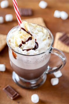 The best recipes for STARBUCKS copycat DRINKS - Copycat Smores Starbucks Frappuccino Recipe