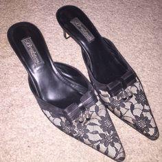 Beautiful Brighton Lace Talula Mules Beautiful Brighton Black Lace Talula Mules Brighton Shoes