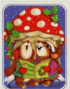 Vtg original unused greeting Christmas card-deck the halls Merry Christmas in Collectibles, Paper, Vintage Greeting Cards   eBay