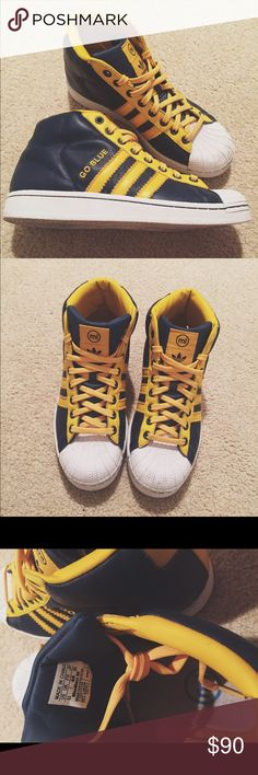 Customized University of Michigan Adidas Shoe! Women's Size 8.5   Only worn once!   Perfect for tailgating season! adidas Shoes