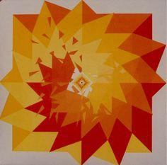 Explosión,  Acrylic on canvas / Acrílico sobre tela, 60 x 60 cm / 24 x 24 in, 1997, by Carlos Presto