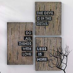 Wand-Deko / wall decoration  #impressionen
