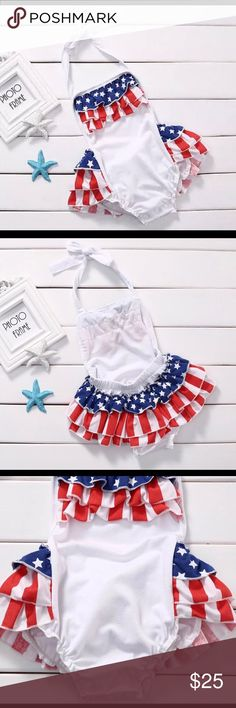 4th July Baby Girl romper patriot day romper New One Pieces Bodysuits
