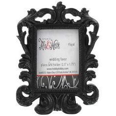 Black Baroque Place Card Holders